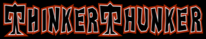 thinkerthunker stylized text banner